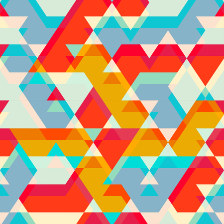 colored star seamless pattern Vector