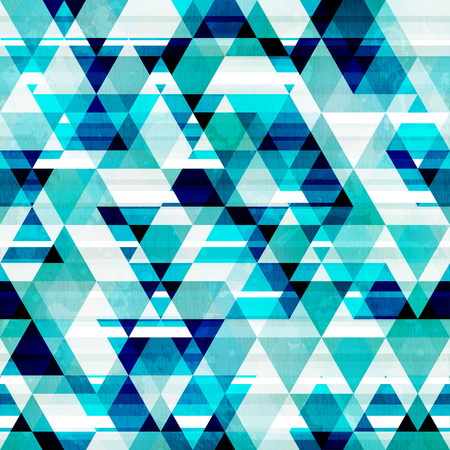 unending: crystal triangle seamless pattern Illustration
