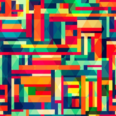 bright color square seamless pattern Vector