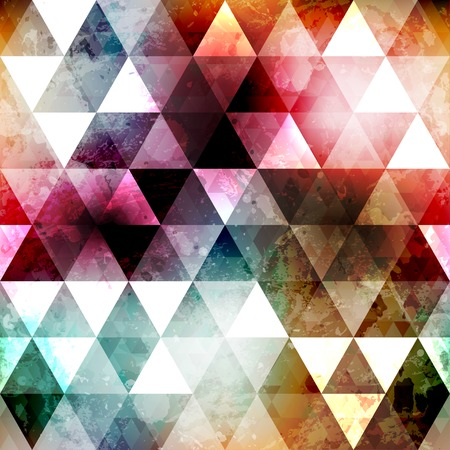 grunge space color triangle seamless texture Vector