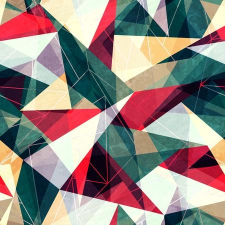 レトロな三角形のシームレスなテクスチャ