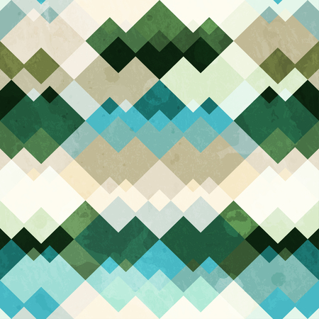native american baby: retro zigzag seamless pattern with grunge effect Illustration