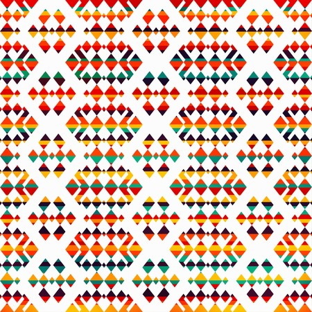 sunny geometric seamless pattern Vector
