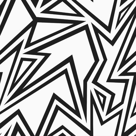 tribal monochrome seamless pattern