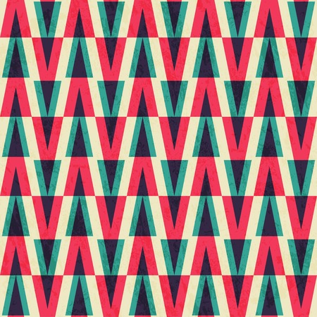 vintage triangle seamless  pattern with paper effect Vector