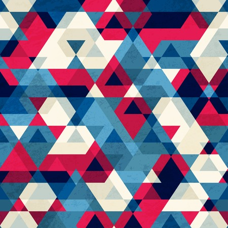 geometric shapes: vintage triangle seamless pattern
