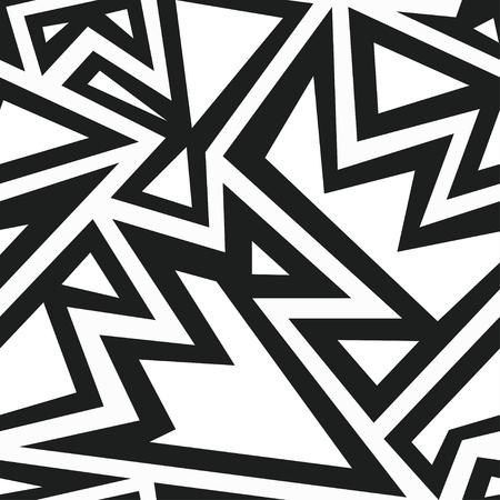 monochrome aztec seamless pattern Vector