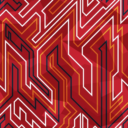 electrical part: red circuit seamless pattern