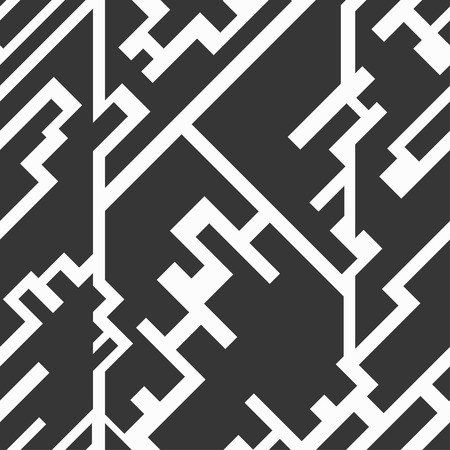 monochrome circuit seamless texture Vector