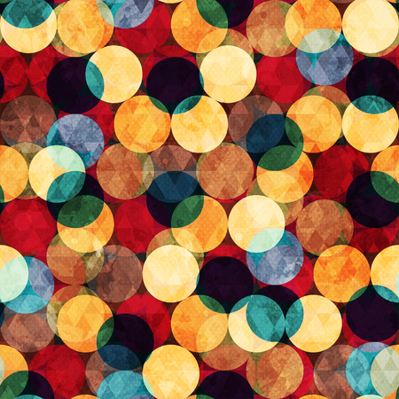 retro circle seamless texture with grunge effect