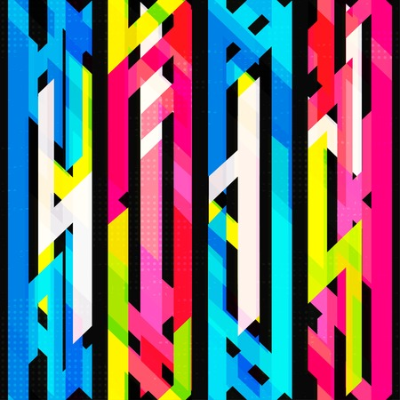 bright neon seamless pattern with grunge effect