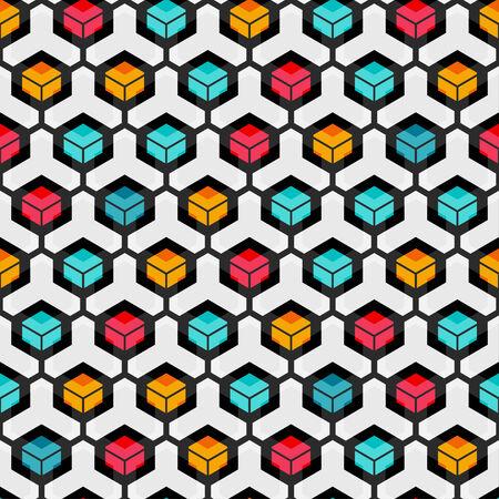 harmonious: cell seamless pattern Illustration