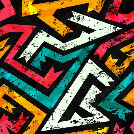 grunge ancient seamless pattern