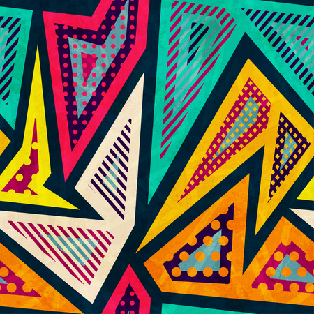hipster geometric seamless pattern Vector