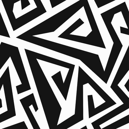 monochrome: monochrome labyrinth seamless pattern
