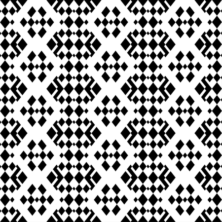 retro monochrome geometric seamless pattern Illustration