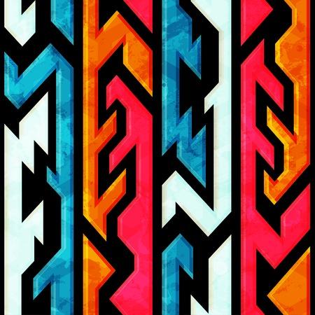 bright graffiti seamless pattern with grunge effect Vector