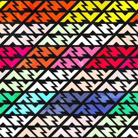 checkered pattern: bright stripes seamless pattern Illustration