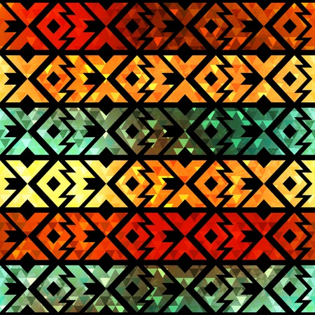 ancient geometric: ancient geometric seamless pattern with grunge effect