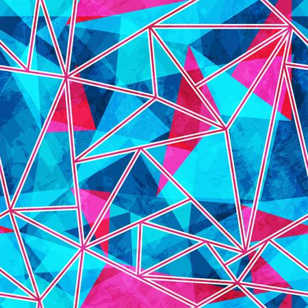 blue mosaic seamless pattern Illustration