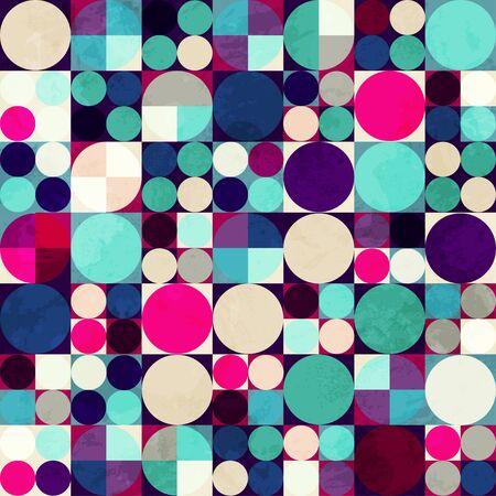 bright circle seamless pattern