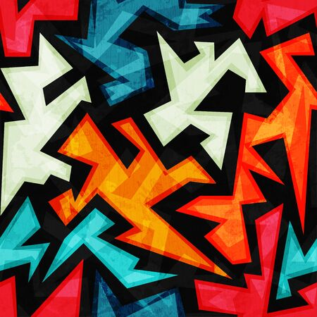 bright: bright urban seamless pattern Illustration