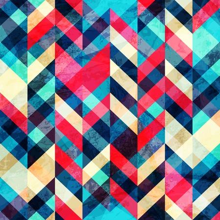 geometria: inconformista sin fisuras patrón de zig-zag, con efectos grunge
