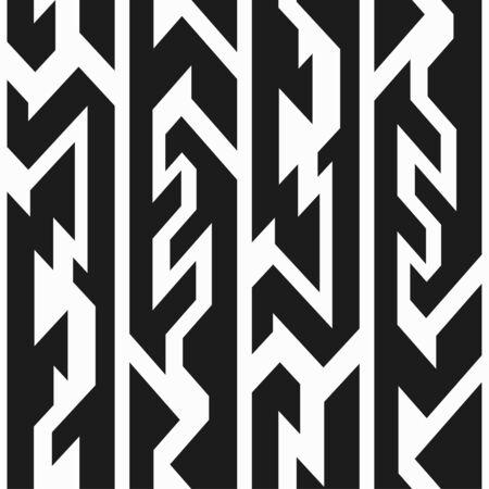 monochrome: monochrome totem seamless pattern Illustration