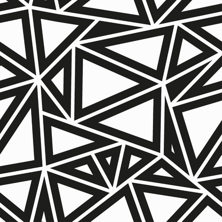 monochrome triangle seamless pattern Vectores