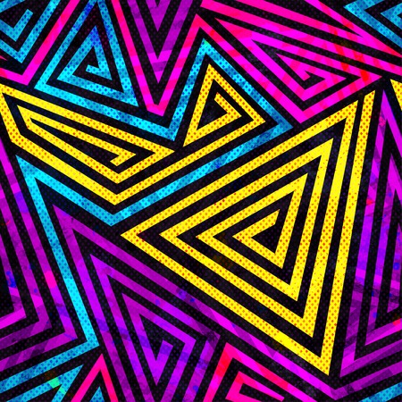 psychedelic spiral seamless pattern