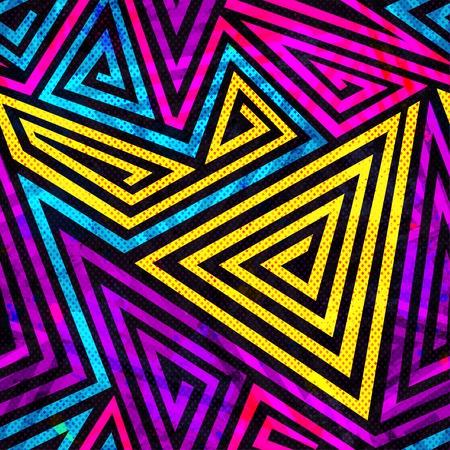 환각 나선형 원활한 패턴 일러스트
