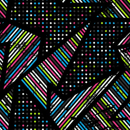 spectrum music seamless pattern