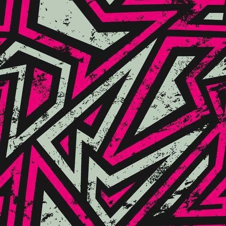 urban geometric seamless pattern with grunge effect 일러스트