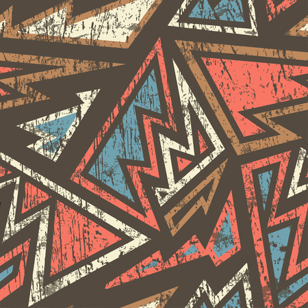 ancient geometric: ancient geometric seamless pattern with wood effect
