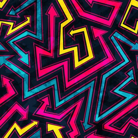 グランジ効果と矢印のシームレスなパターン