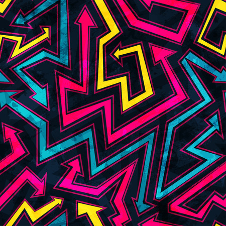 arrows seamless pattern with grunge effect
