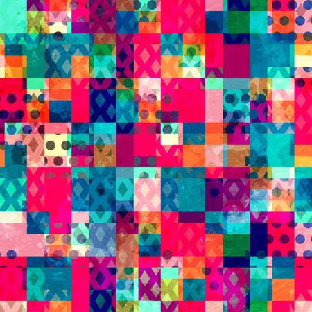 鮮やかな布シームレス パターン