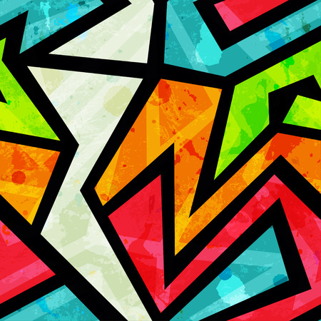 graffiti naadloze patroon met grunge effect Stock Illustratie