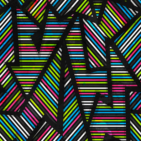 neon geometric seamless pattern Illustration