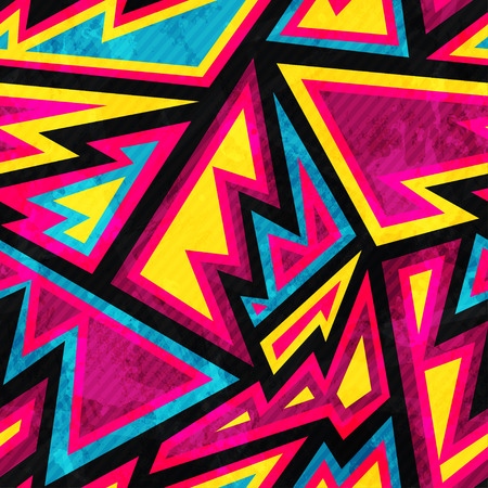 street: psychedelic colored geometric seamless pattern