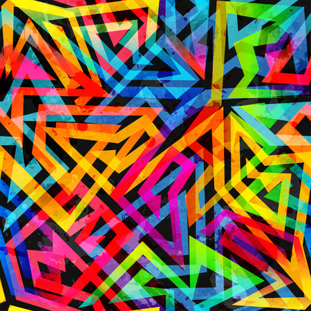 psychedelic geometric seamless pattern