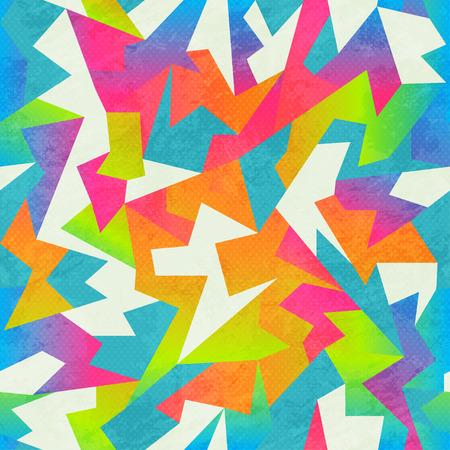 rainbow colored mosaic seamless pattern Illustration