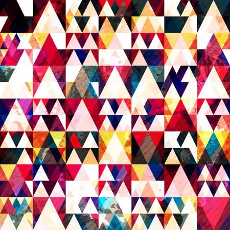 赤い三角形のシームレス パターン