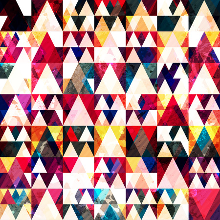 red triangle seamless pattern 向量圖像