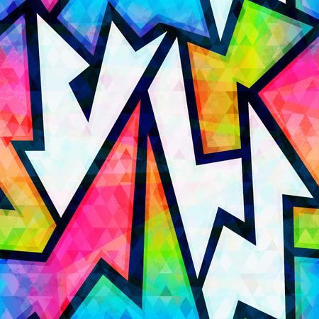 spectrum geometric seamless pattern