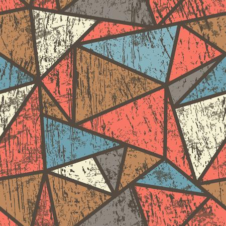 furnier: Dreieck nahtlose Muster mit Holz-Effekt