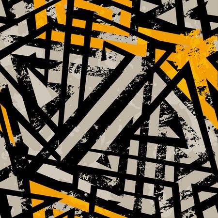 urban geometric seamless pattern with grunge effect Vector