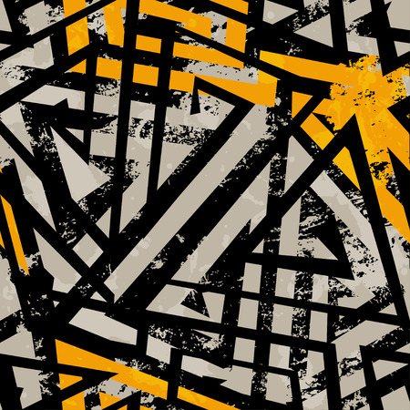 urban style: urban geometric seamless pattern with grunge effect Illustration