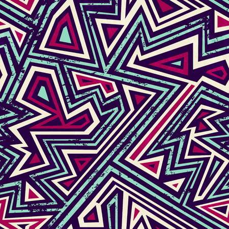 ancient maze seamless pattern with grunge effect 일러스트