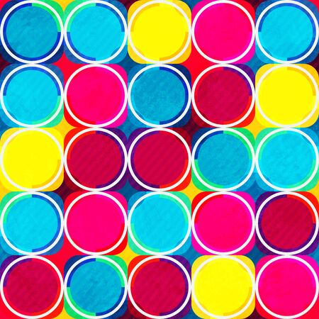 bright: bright circle seamless pattern